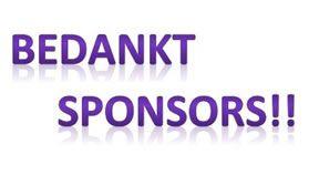 Dank aan onze sponsoren