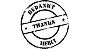 Bedankt!!